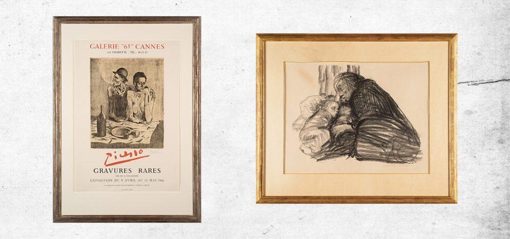 """Werke von Pablo Picasso und Käthe Kollwitz sind Teil der geplanten Dauerausstellung """"Armut und Hunger haben viele Gesichter"""", Fotos: Bernd Zöllner"""