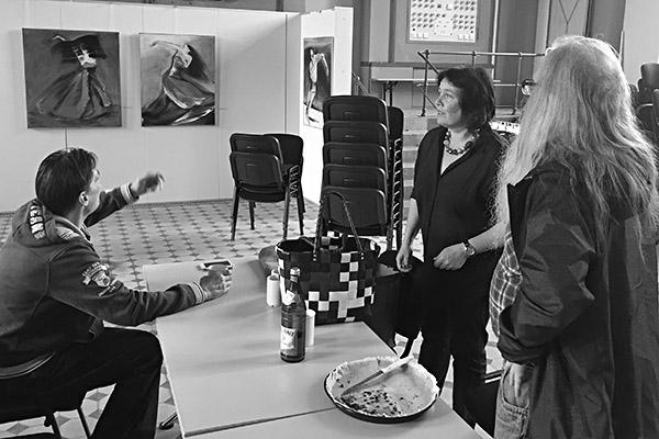 Kunstworkshop mit der Künstlerin Bettina Mauel, Foto: Dirk Kästel