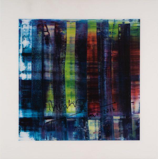 Gerhard Richter, Abstract Painting (blau), Edition, Farboffsetdruck, signiert 3. Okt. 2014