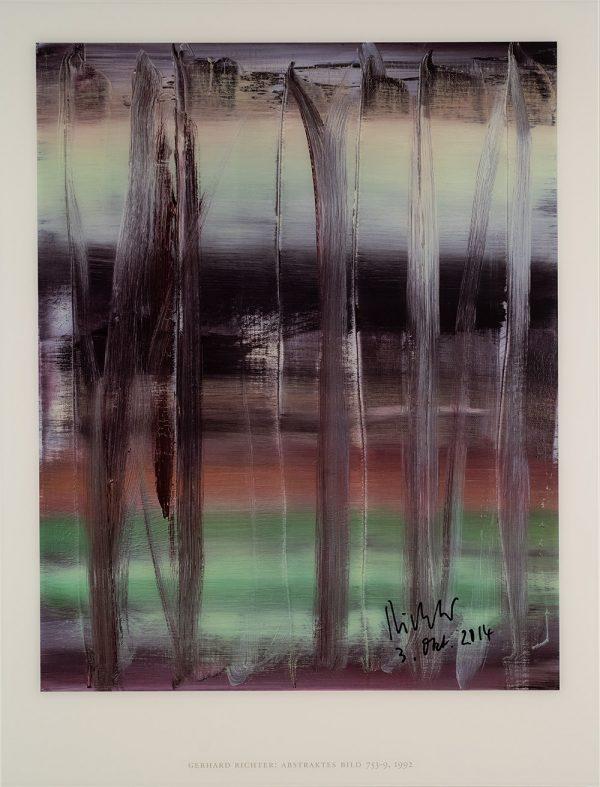 Gerhard Richter, Abstraktes Bild 753-9, 1992, Farboffsetdruck