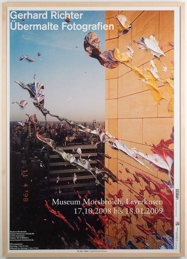 Gerhard Richter, signiertes Ausstellungsplakat, Übermalte Fotografien, Museum Morsbroich, Leverkusen, 2008