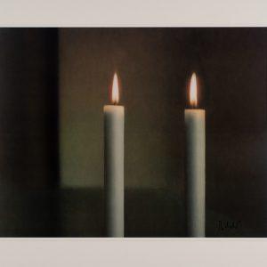 Gerhard Richter, Zwei Kerzen, Edition, Farboffsetdruck, signiert